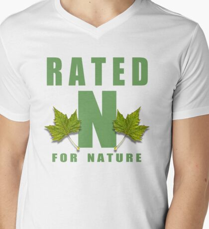 rated n for nature Mens V-Neck T-Shirt