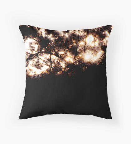 Burning sakura Throw Pillow