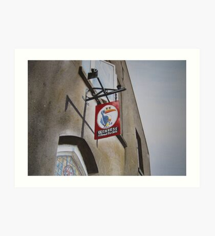 Killarney pub sign Art Print