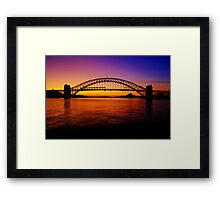 Sydney Harbour Bridge. Framed Print