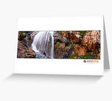 Water falls Greeting Card