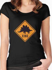 Prehistoric Xing - Stegosaurus Women's Fitted Scoop T-Shirt