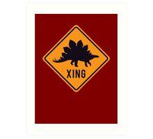 Prehistoric Xing - Stegosaurus Art Print
