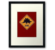 Prehistoric Xing - Stegosaurus Framed Print