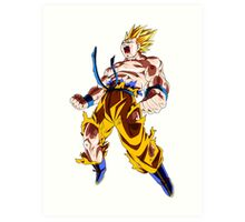 Super Saiyan Goku Art Print