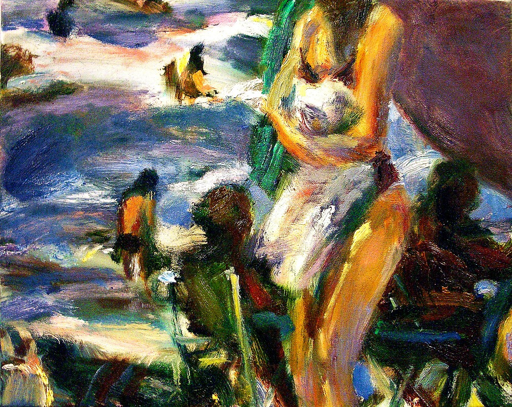 Woman with Towel by dornberg