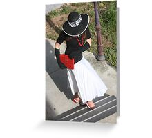 Glamour Girl Greeting Card