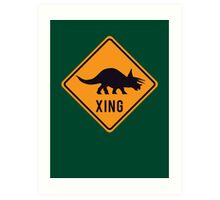 Prehistoric Xing - Triceratops Art Print