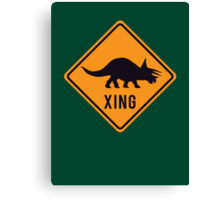 Prehistoric Xing - Triceratops Canvas Print