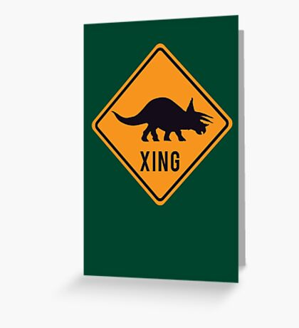 Prehistoric Xing - Triceratops Greeting Card