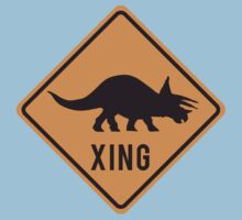 Prehistoric Xing - Triceratops Kids Clothes