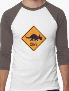 Prehistoric Xing - Triceratops Men's Baseball ¾ T-Shirt