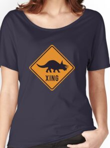 Prehistoric Xing - Triceratops Women's Relaxed Fit T-Shirt