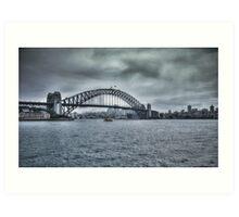 Approaching Storm on Sydney Harbour, NSW, Australia Art Print