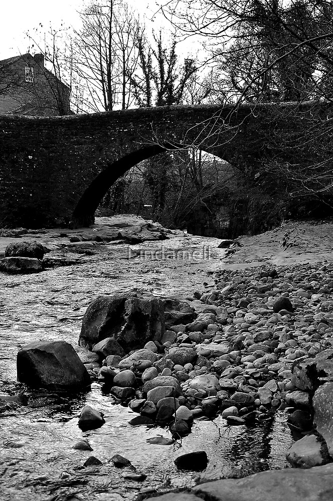 The Bridge at West Burton Falls by Lindamell