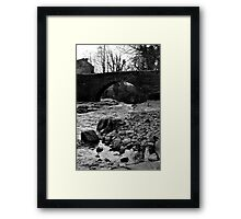 The Bridge at West Burton Falls Framed Print