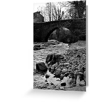 The Bridge at West Burton Falls Greeting Card