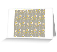 daffodils pattern Greeting Card
