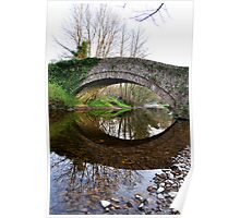 The Pack Horse Bridge at West Burton Poster