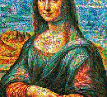 Colorful Mona lisa by Celso Maria