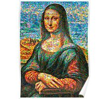 Colorful Mona lisa Poster