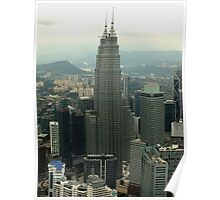 Looking over Kuala Lumpur from KL Tower Poster