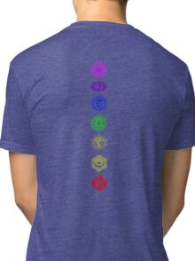 7 Chakra spiritual meditation Tri-blend T-Shirt
