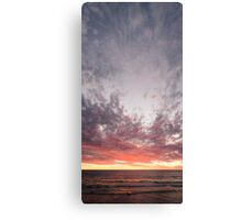 Autumn Sunset Over Coast Canvas Print