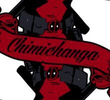 Chimichanga card Sticker