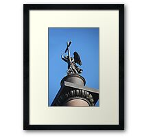 angel with cross  Framed Print