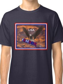 Patriotic USA Freedom Eagle T Shirt Classic T-Shirt