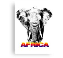 africa elephants Canvas Print