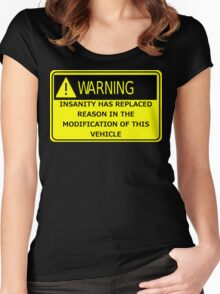Rat Rod Warning Women's Fitted Scoop T-Shirt