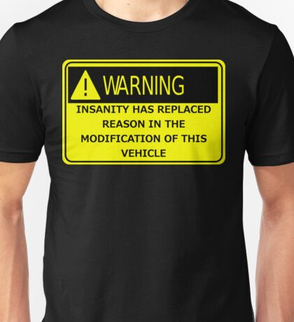 Rat Rod Warning Unisex T-Shirt