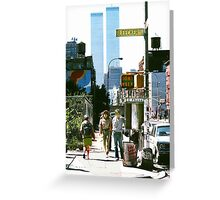 Morning in New York Lower East Side. Greeting Card