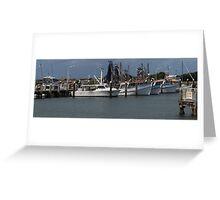 Fishing boats in Crowdy Head Greeting Card