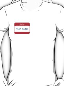 Hello My Name is Blank Space Taylor Swift T-Shirt