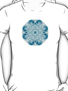 """""""Spirit of India: Snow-Fleur"""" in turquoise and cyan T-Shirt"""