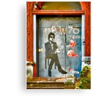 Bob Dylan Looking At Me Canvas Print