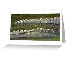 Alligator tails Greeting Card