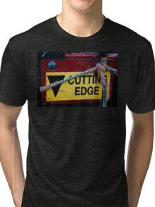 Cutting Edge - Farm Equipment Photograph Tri-blend T-Shirt