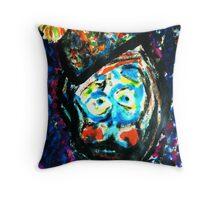 The Unhappy Clown Throw Pillow