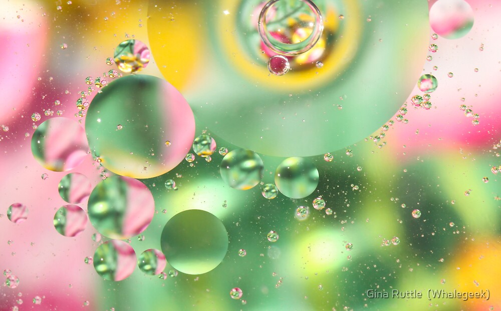 Crystalline bubbles by Gina Ruttle  (Whalegeek)