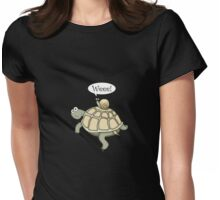 Snail on the fast-track! Womens Fitted T-Shirt