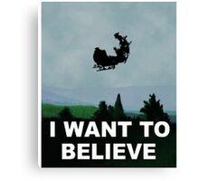 I Want To Believe (Santa) Canvas Print