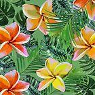 Orange And Lemon Floral Tropics by AllyNCoxon