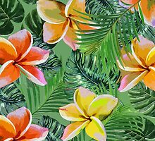 Orange And Lemon Floral Tropics by AllyNCoxon