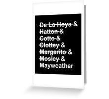 Mayweather VS Pacquiao 2015 Greeting Card