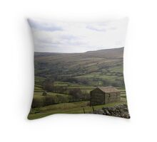 Stone Barns of Swaledale Throw Pillow