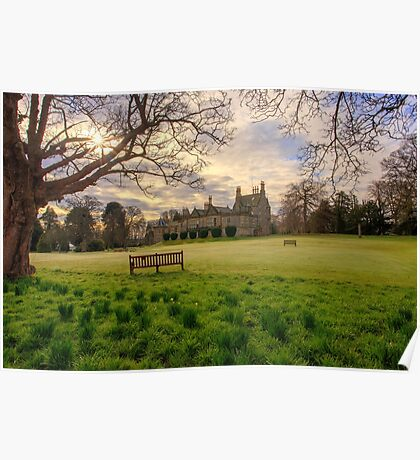 Morning Sunrise over Lauriston Castle Poster